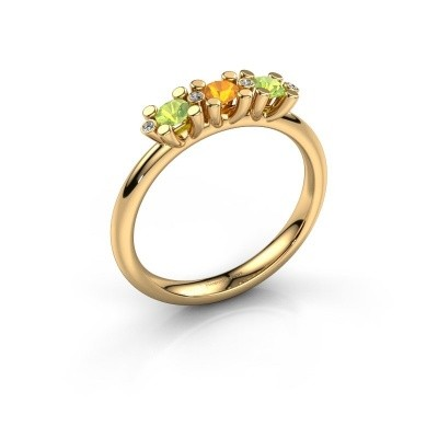 Foto van Ring Puk 2 585 goud citrien 3 mm