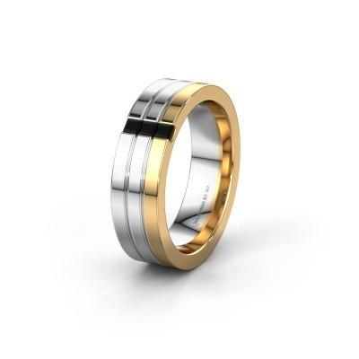 Wedding ring WH0428L16BP 585 gold black diamond ±0.24x0.08 in