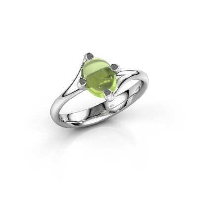 Ring Nora 950 platina peridoot 8x6 mm