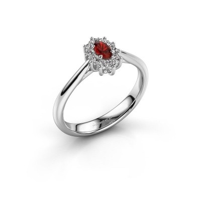 Picture of Engagement ring Leesa 1 585 white gold garnet 6x4 mm