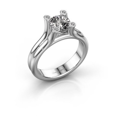 Foto van Belofte ring Stefanie 1 950 platina diamant 1.00 crt