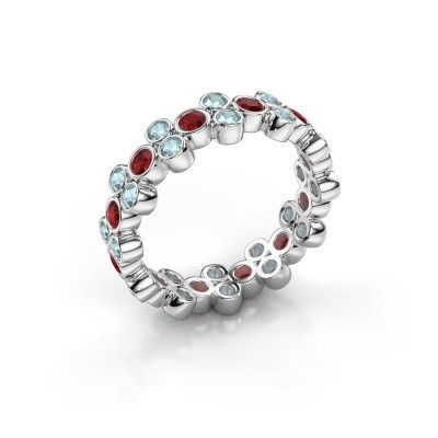 Ring Victoria 585 white gold ruby 2.4 mm