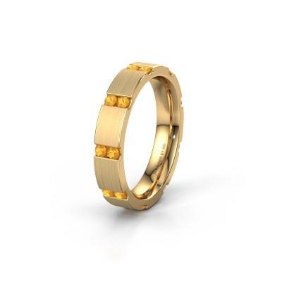Huwelijksring WH2132L14BM 375 goud citrien ±4x2.2 mm