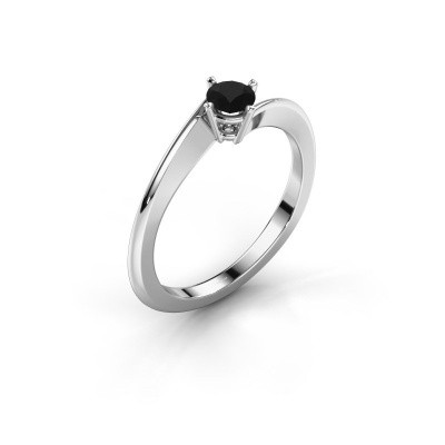 Foto van Verlovingsring Ingrid 585 witgoud zwarte diamant 0.30 crt