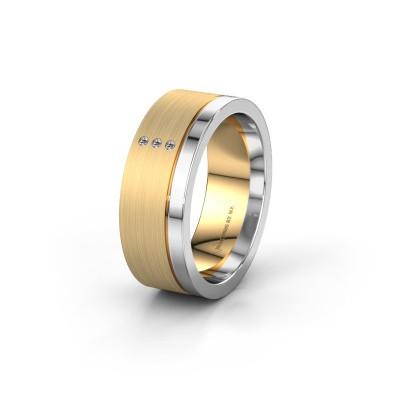 Bild von Trauring WH0325L17APM 585 Gold Diamant ±7x1.7 mm