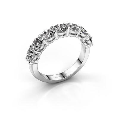 Engagement ring Michelle 7 585 white gold diamond 2.100 crt