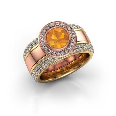 Foto van Ring Roxie 585 rosé goud citrien 6.5 mm