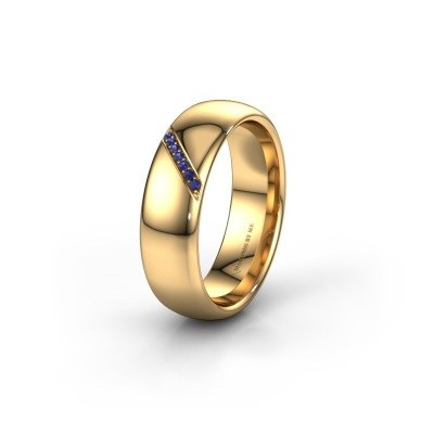 Wedding ring WH0164L36B 585 gold sapphire ±0.24x0.08 in