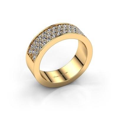 Ring Lindsey 6 375 gold diamond 0.82 crt