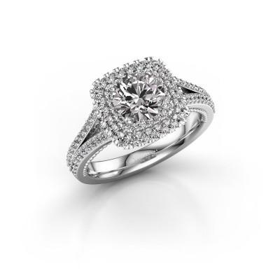 Verlobungsring Annette 585 Weißgold Diamant 1.618 crt