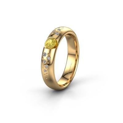 Trouwring WH2104L34A 375 goud gele saffier ±4x1.7 mm