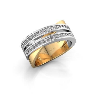 Ring Margje 585 goud zirkonia 1.3 mm