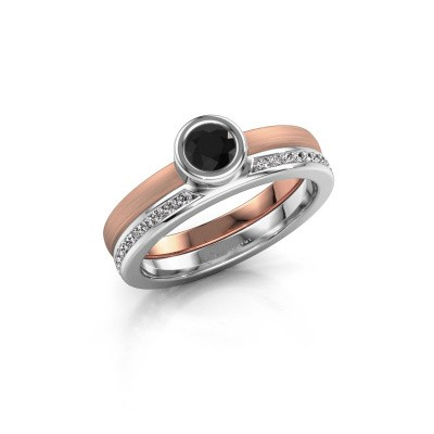 Picture of Ring Cara 585 rose gold black diamond 0.670 crt