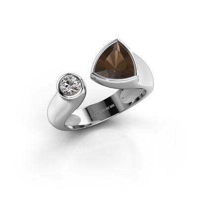 Ring Latisha 950 platina rookkwarts 7 mm