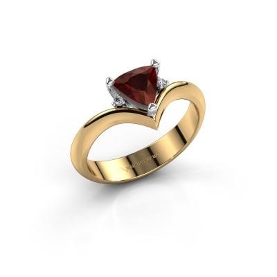 Ring Arlette 585 goud granaat 7 mm