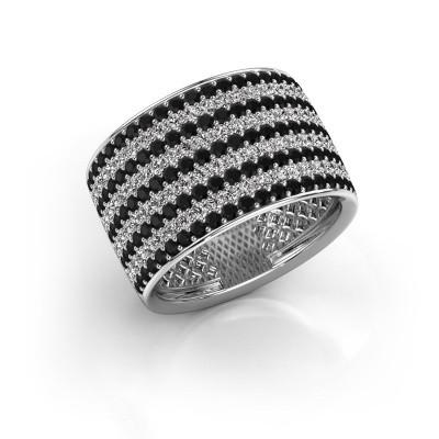 Foto van Ring Macy 585 witgoud zwarte diamant 2.512 crt
