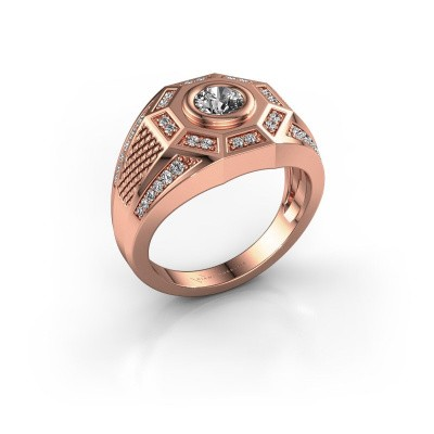 Heren ring Enzo 375 rosé goud diamant 0.845 crt