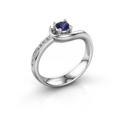 Ring Ceylin 925 silver sapphire 4 mm