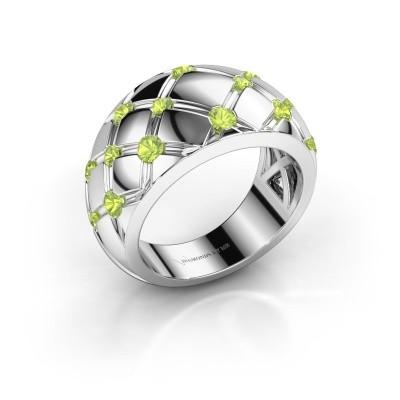 Ring Imke 925 Silber Peridot 2.5 mm