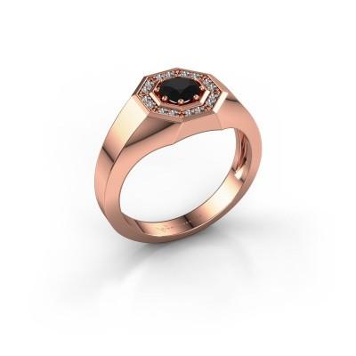 Picture of Men's ring Jaap 375 rose gold black diamond 0.72 crt