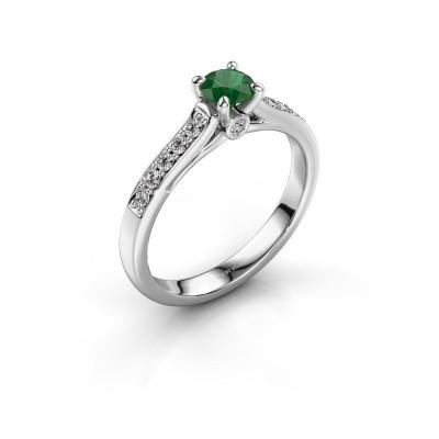 Verlovingsring Valorie 2 925 zilver smaragd 4.7 mm