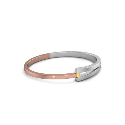 Slavenarmband Sofia 585 rosé goud gele saffier 4 mm
