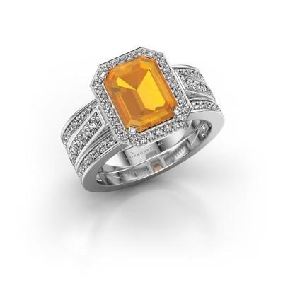 Foto van Ring Dodie 3 925 zilver citrien 9x7 mm