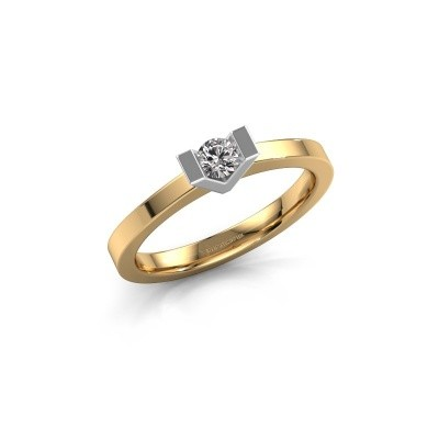 Aanzoeksring Sherley 1 585 goud lab-grown diamant 0.15 crt