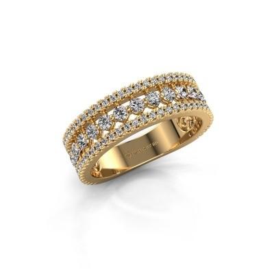 Verlovingsring Elizbeth 1 375 goud zirkonia 2 mm