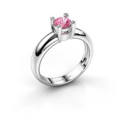 Ring Fleur 950 platina roze saffier 4.7 mm
