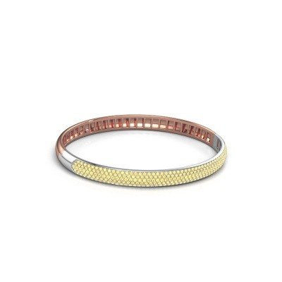 Armband Emely 6mm 585 rosé goud gele saffier 1.2 mm