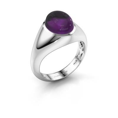Ring Zaza 950 platina amethist 10x8 mm