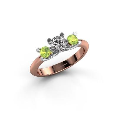 Bague Mirthe 585 or rose diamant 0.50 crt
