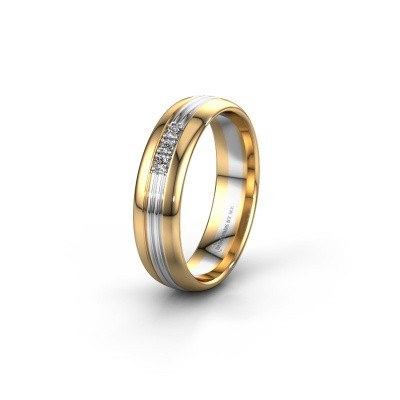 Trouwring WH0405L35X 585 goud diamant ±5x1.5 mm