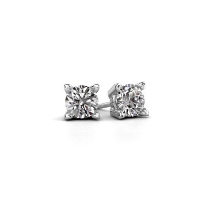 Picture of Stud earrings Cather 585 white gold diamond 0.20 crt