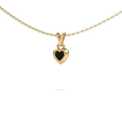 Foto van Hanger Charlotte Heart 585 goud zwarte diamant 0.30 crt
