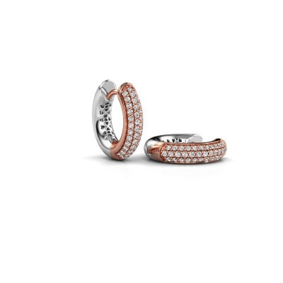 Foto van Creolen Tristan B 14 mm 585 rosé goud diamant 0.322 crt