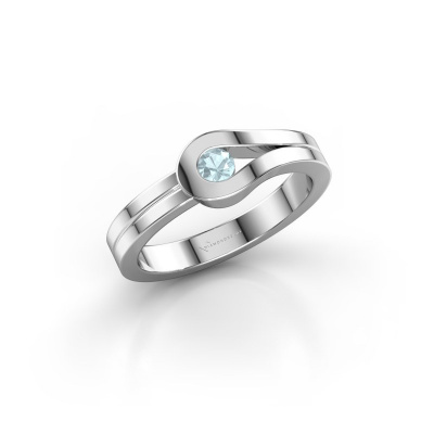 Ring Kiki 925 Silber Aquamarin 3 mm