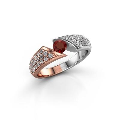 Engagement ring Hojalien 3 585 rose gold garnet 4.2 mm