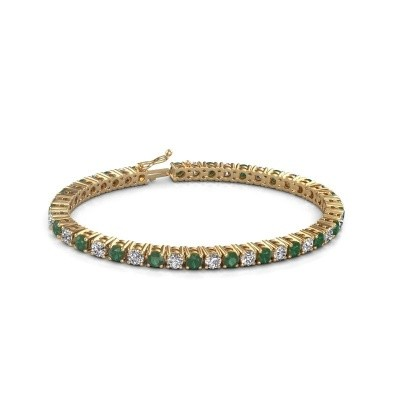 Tennis bracelet Karin 585 gold emerald 4 mm