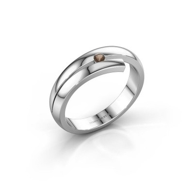 Foto van Ring Shela 925 zilver rookkwarts 2.2 mm