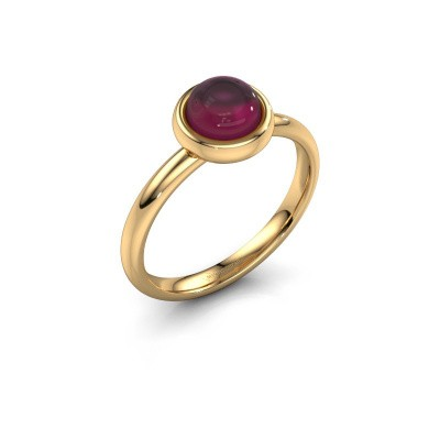 Foto van Ring Blossom 585 goud rhodoliet 6 mm