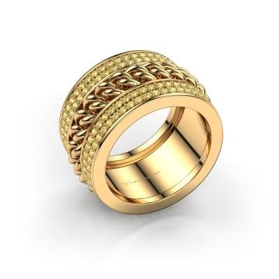 Foto van Ring Jayda 375 goud gele saffier 1.2 mm