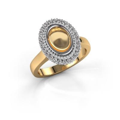 Ring Maartje 585 goud citrien 8x6 mm