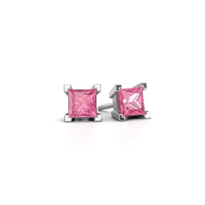 Picture of Stud earrings Ariane 375 white gold pink sapphire 5 mm