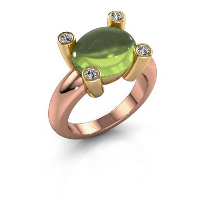 Ring Janice OVL 585 rose gold peridot 12x10 mm