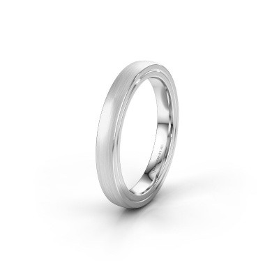 Wedding ring WH2216L26DM 925 silver ±4x2.2 mm