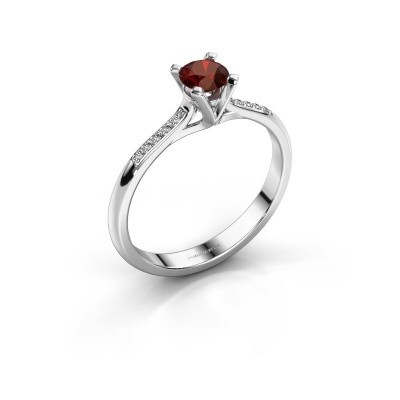 Picture of Engagement ring Isa 2 925 silver garnet 4.2 mm