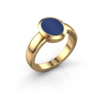 Signet ring Freeda 1 585 gold lapis 10x8 mm