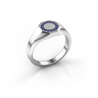 Pinky ring Floris Octa 1 375 white gold sapphire 1.2 mm